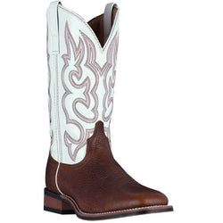 Laredo Redwood/White Lodi Mens Square Toe Western Boots 7891