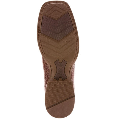 590c2bbc54a Ariat Men's Double Down Pecan Caiman Belly Cowboy Boot - Square Toe ...