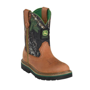 John Deere JD2188 Children/Youth Johnny Popper Tan and Camo Western Boots