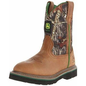 John Deere Boots: Youth Crazy Horse Leather/Nylon Cowboy Boots JD3188