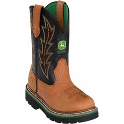 John Deere Boys' Johnny Popper Tuff Tred Western Boot - Round Toe - JD2190