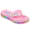GIRLS SKECHERS TWINKLE TOES: SUNSHINES - MERMAID DREAMS FLIP FLOPS 20197L SMLT