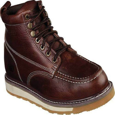 Men's Skechers Work Relaxed Fit Boydton Boot 77198 RDBR