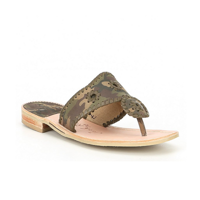 Women's Jack Rogers Jacks Camo Printed Leather Sandals