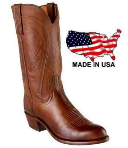 Lucchese Women's 1883 Bart Tan Burnished Ranch Hand Calf Boots N4604.R4