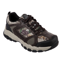 MEN'S WORK SKECHERS : QUEZNELL - HULEN STEEL TOE SHOES 77530 CAMO