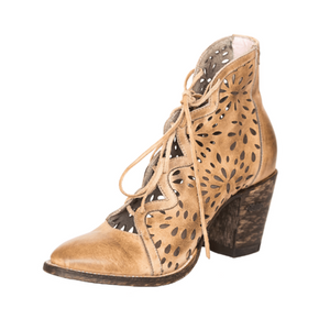 Miss Macie Waitin' On Friday Beige Laser Cut Bootie U5001-01