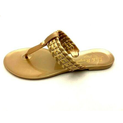 JACK ROGERS TINSLEY JELLY SANDALS IN GOLD