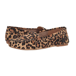 WOMEN'S MILLIE HAIRCALF MOCCASIN LEOPARD PRINT CASUAL SHOES