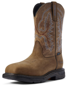 Ariat Men's Workhog Square Toe XT H2O Work Boots - Brown Soft Toe