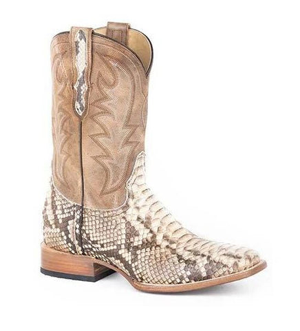 Men's Stetson Piton Python Boots Handcrafted 12-020-8818-3783