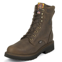 "Justin Men's J-Max Rugged Gaucho 8"" Lace-Up Work Boots-444"