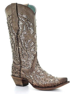 CORRAL GLITTER COWGIRL BOOT C3331