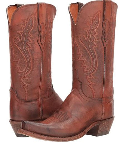 Lucchese Womens Wynonna Western Boots Antique Coral N4780.S54