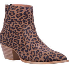 Dingo Women's Klanton Leopard Print Fashion Booties - Snip Toe - DI112