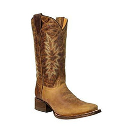KIDS CORRAL SQUARE TOE WESTERN BOOTS E1229