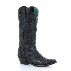 Women's Black Full Inlay Boot by Corral G1417