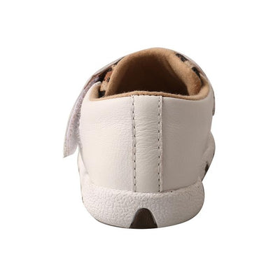 Twisted X Infant Driving Moccasins – White/Leopard ICA0001