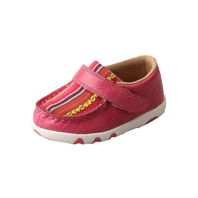 Twisted X Infant Driving Moccasins – Pink/Multi Canvas ICA0003