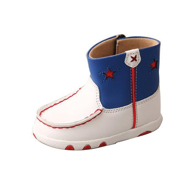 Twisted X Infant Driving Moccasins – White/Blue/Red ICA0006