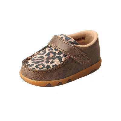 Twisted X Infant Driving Moccasins – Bomber/Leopard ICA0007