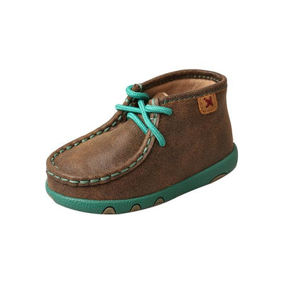 Twisted X Infant Driving Moccasins – Bomber/Turquoise ICA0008
