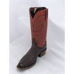MEN'S LUCCHESE TIMBER BELIZE LUCCHESE CAIMAN BIASED CUT BELLY SQUARE TOE COWBOY AL2037.W8