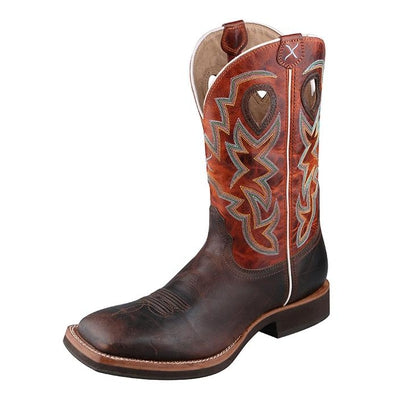 Twisted X Men's Horseman Boot – Chocolate/Orange MHM0014