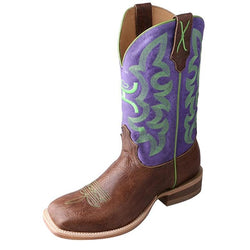 Twisted X Men's Hooey Boot – Brown Shoulder/Purple MHY0013