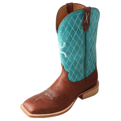 Twisted X Men's Hooey Boot – Cognac/Turquoise MHY0017