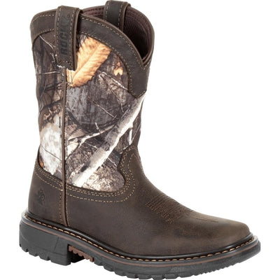 ROCKY KIDS' RIDE FLX WATERPROOF WESTERN BOOT RKW0258C
