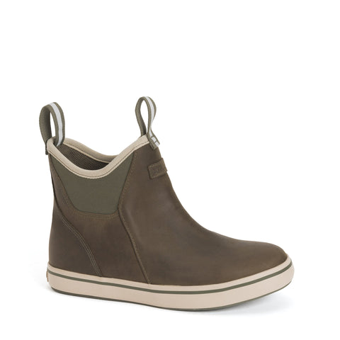 WOMEN'S LEATHER 6 IN ANKLE DECK BOOT OLIVE XWAL-303