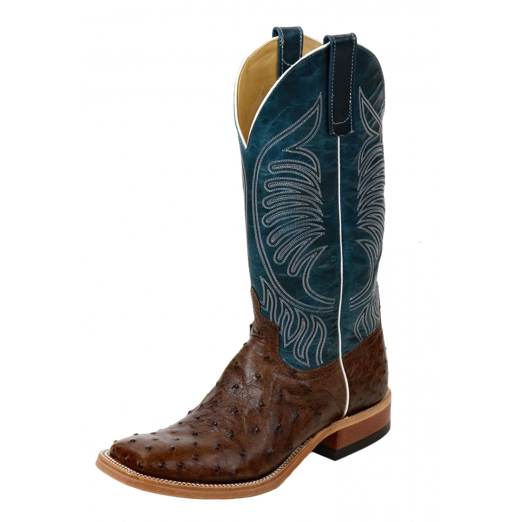 Anderson Bean Kango Tabac Mad Dog Full Quill Ostrich Western Boots S3004