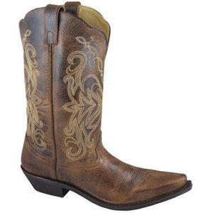 Smoky Mountain Boots Women's Western Snip Toe Cowboy Madison Brown 6472