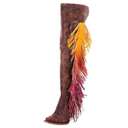 Women's Junk Gypsy Tall Spirit Animal Fringe Boot JG0022A
