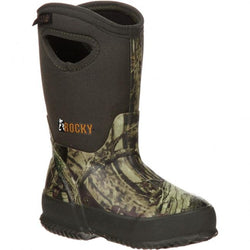 RKYS064 Rocky Core Kids' Rubber WP Outdoor Boots - Mossy Oak