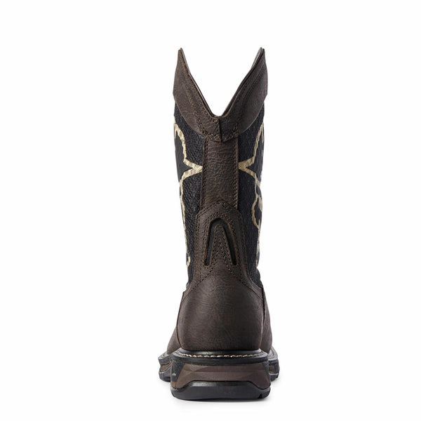 Ariat 10031507 Men's Iron Coffee WorkHog XT VentTEK Bold Carbon Toe Work Boots