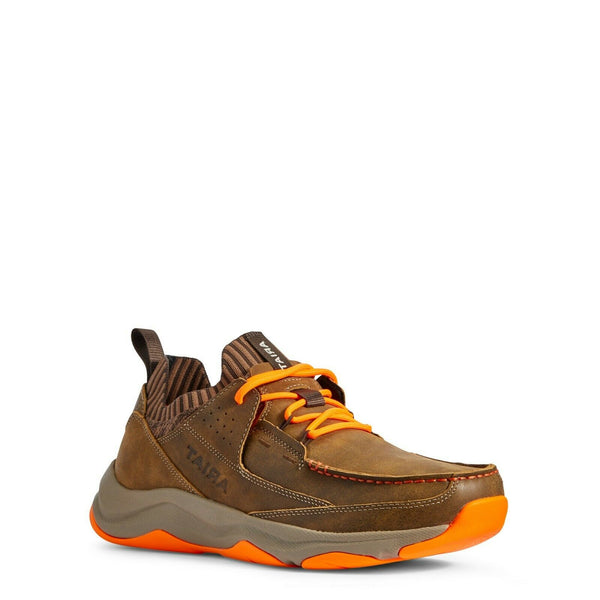 Ariat® Men's Brown Bomber and Orange Country Mile Shoe 10031435