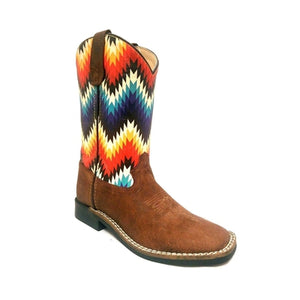 YOUTH GIRLS SQUARE TOE POCONO WESTERN BOOTS 278-30Y-CTR