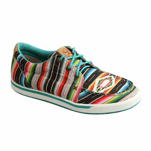 Twisted X Women's Black Serape Hooey Loper Casual Shoes WHYC008