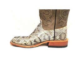 MEN'S ANDERSON BEAN EASTERN CUT RATTLESNAKE WESTERN BOOTS SQUARE TOE 320030