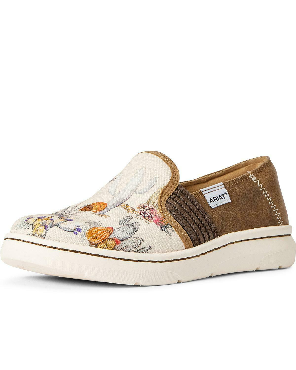 Ariat Women's Ryder Cactus Watercolor Slip-On Shoes - Round Toe - 10033918