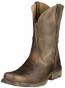 Ariat Boots: Men's 10002317 Rambler 11-Inch Square Toe Cowboy Brown Boots