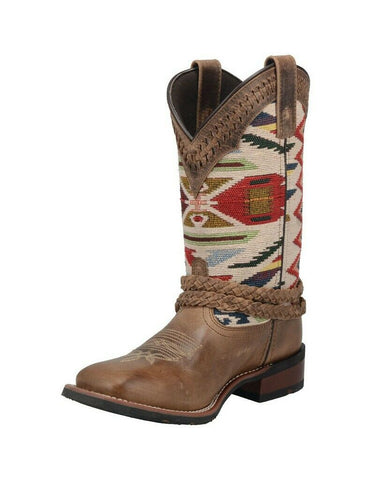 "Laredo Western Boots Womens Kayenta 11"" Shaft Lacing Brown 5823"