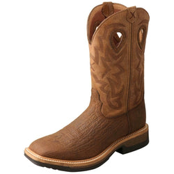 Twisted X Men's Lite Cowboy Western Work Boot - Wide Square Toe - MLCCW05 COMP TOE