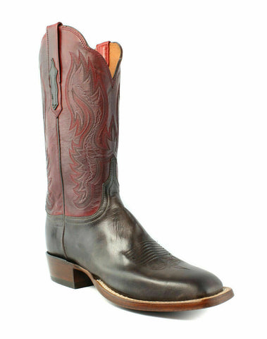Lucchese CL2527.W8 Shelby Womens Dark Brown Goat Leather Cowboy Western Boots