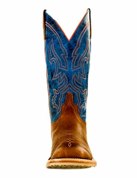 Anderson Bean Western Boots Mens Stitching Piping Pull On Briar S3000