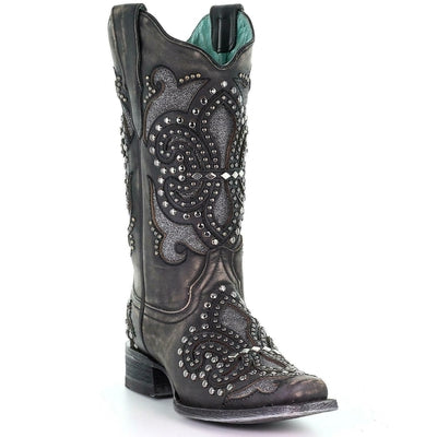 Corral Women's Inlay Western Boot - Square Toe - E1534