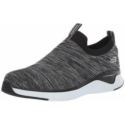 SKECHERS SOLAR FUSE BLACK WHITE 52759 BKW ATHLETIC SHOES