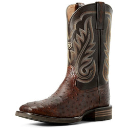 Ariat Men's Promoter Full Quill Ostrich Western Boot Wide Square Toe - 10029721